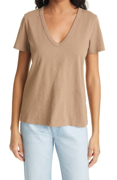 Rag & Bone THE SLUB V-NECK ORGANIC PIMA COTTON T-SHIRT