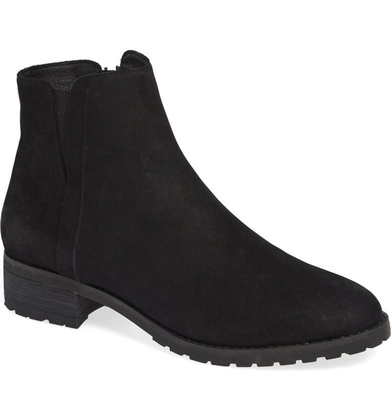 CASLON<SUP>®</SUP> Ollie Water Resistant Bootie, Main, color, BLACK OILED NUBUCK