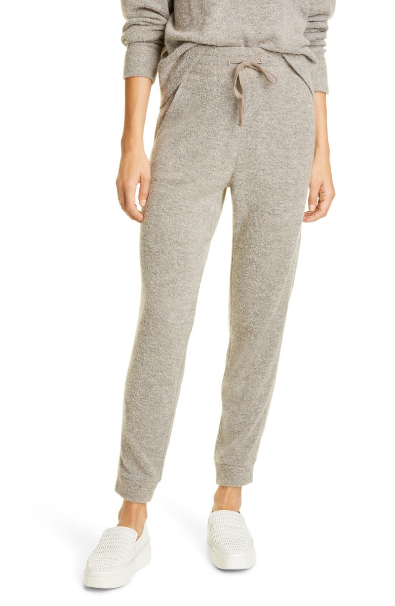 VINCE Textured Jogger Pants, Main, color, HEATHER MOONSTONE