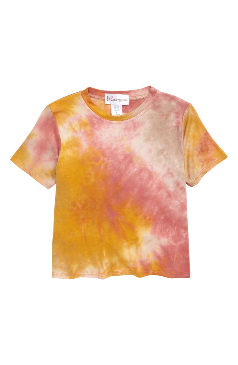 COTTON EMPORIUM Tie Dye Knot Back Tee, Main, color, MAUVE