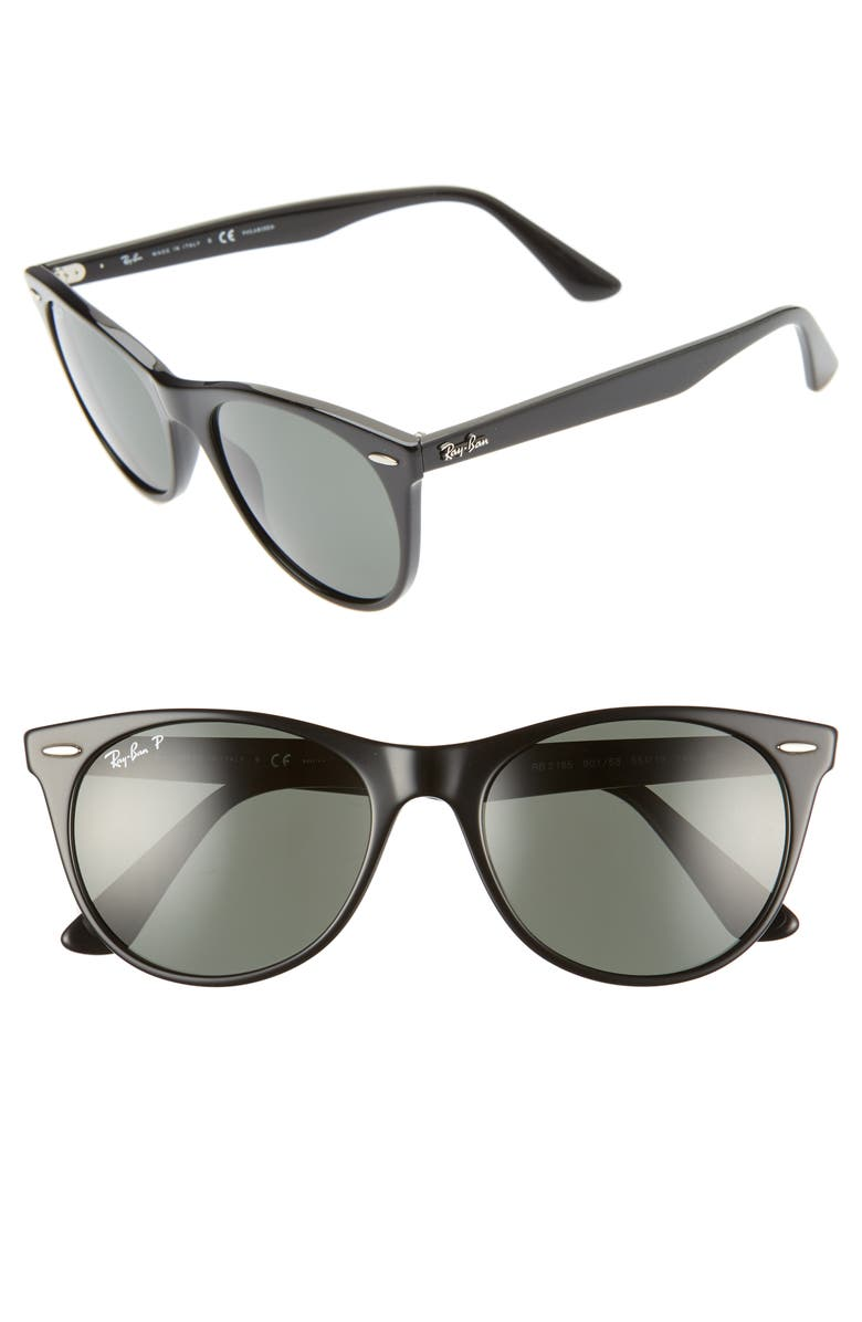 RAY-BAN Wayfarer II 55mm Sunglasses, Main, color, 001