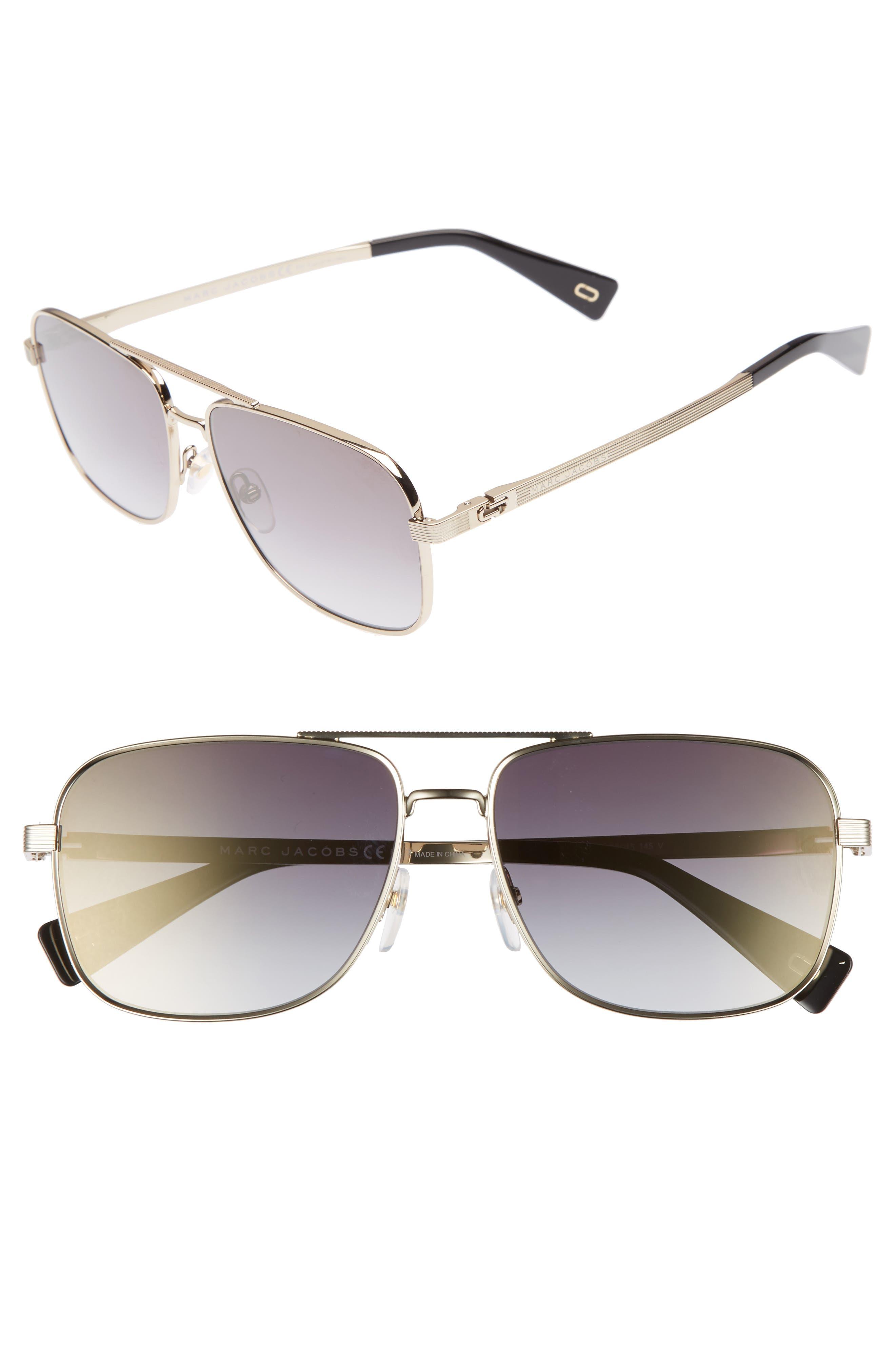 ,                             59mm Gradient Navigator Sunglasses,                             Main thumbnail 4, color,                             711