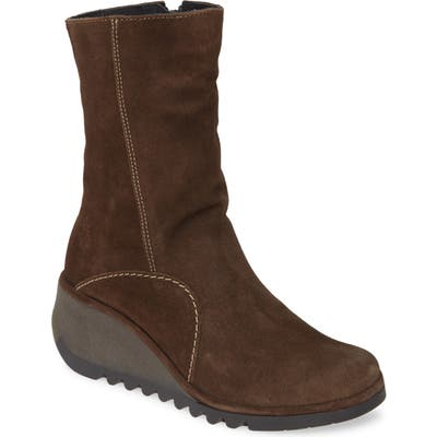Fly London Nort Wedge Boot - Brown