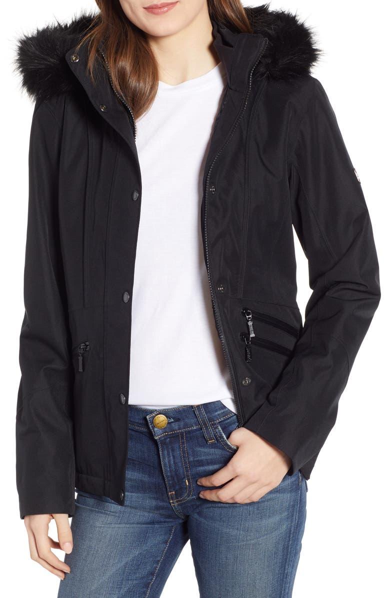 BARBOUR San Carlos Waterproof Jacket, Main, color, 001