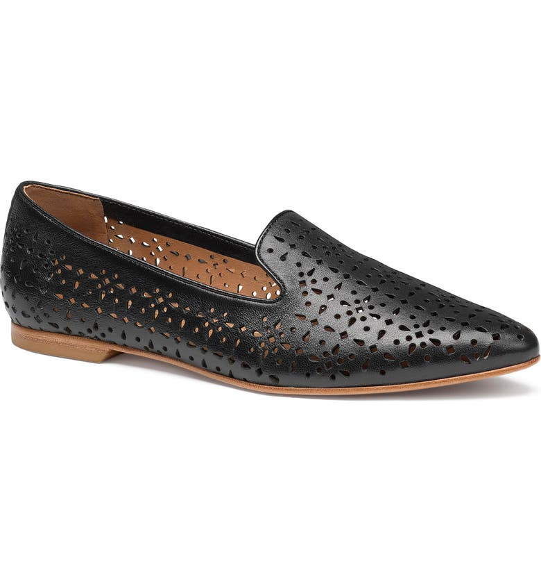 TRASK Farrah Perforated Loafer, Main, color, BLACK PERFORATED LEATHER