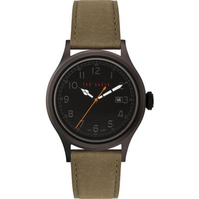 Ted Baker London Lngisla Leather Strap Watch, 42Mm