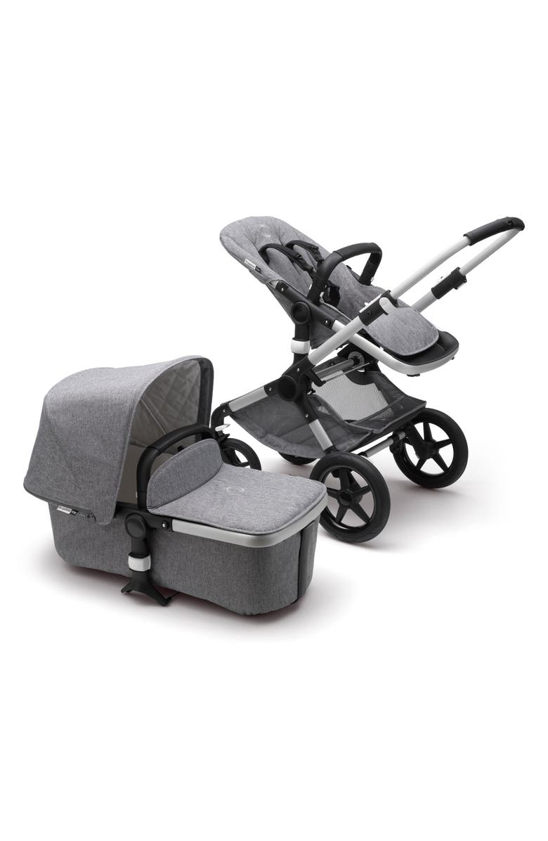 BUGABOO Fox Classic Complete Stroller with Bassinet, Main, color, GREY MELANGE/ ALUMINUM