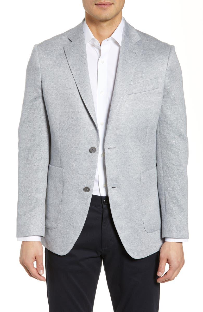 NORDSTROM MEN'S SHOP Trim Fit Linen Sport Coat, Main, color, 030