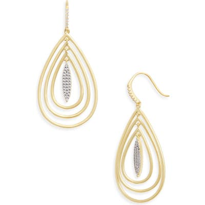 Freida Rothman Fleur Bloom Empire Teardrop Earrings