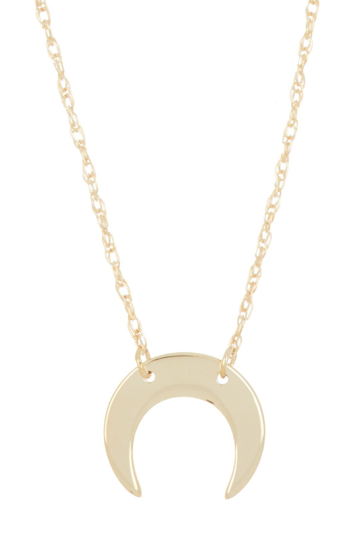 Image of Candela 10K Yellow Gold Crescent Moon Pendant Necklace