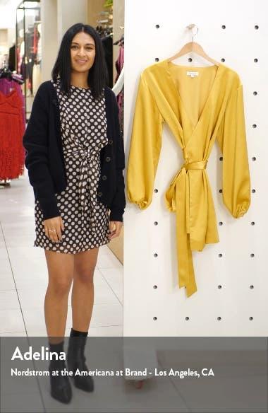 Sinclair Textured Satin Wrap Dress, sales video thumbnail