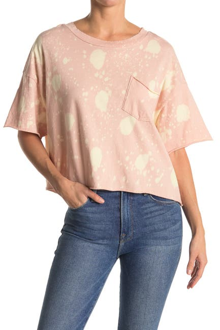 Image of Abound Tie Dye Cropped Pocket T-Shirt