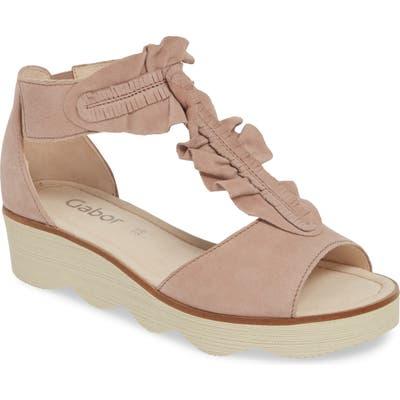 Gabor Wedge Sandal, Pink