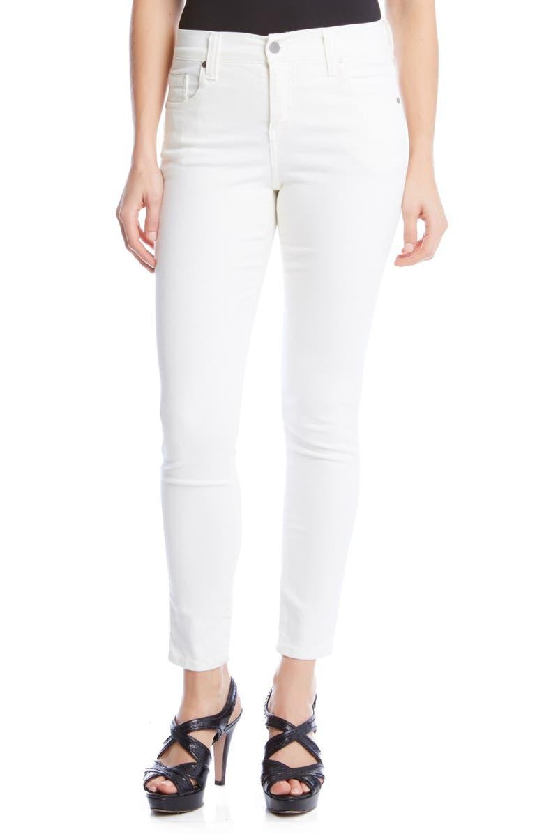 KAREN KANE 'Zuma' Stretch Crop Skinny Jeans, Main, color, WHITE