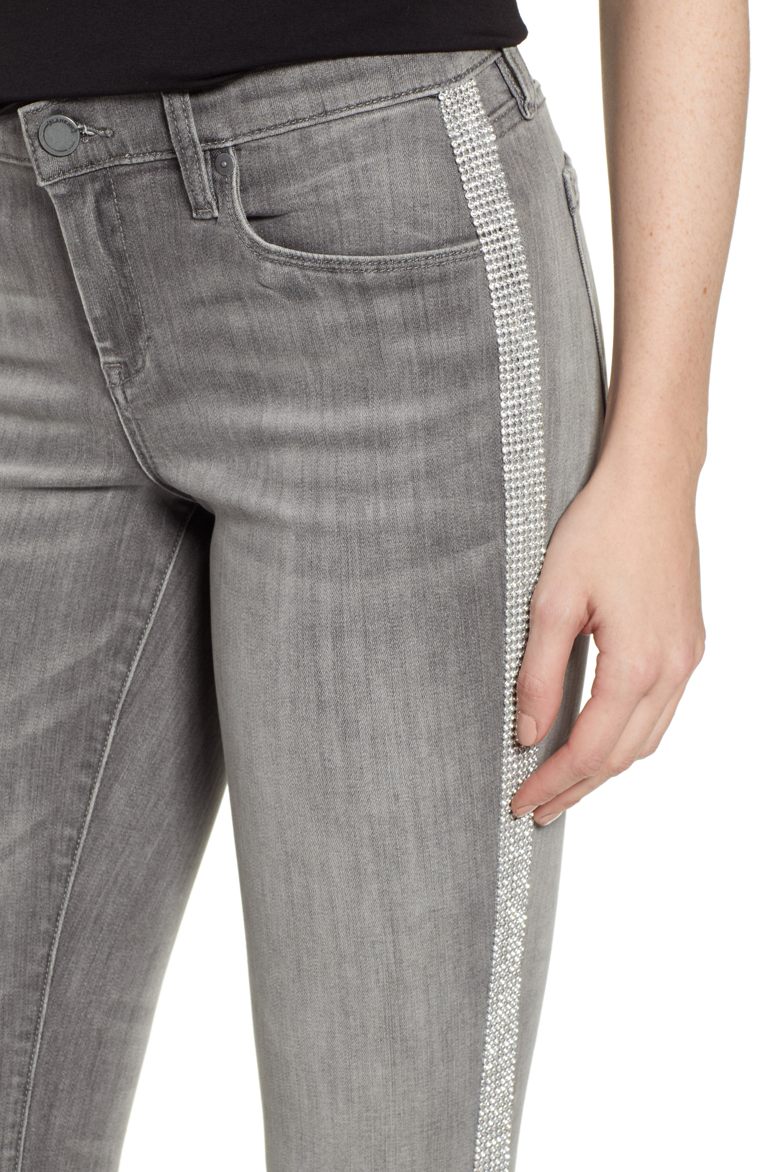 ,                             Crystal Side Skinny Jeans,                             Alternate thumbnail 5, color,                             SKYSCRAPER