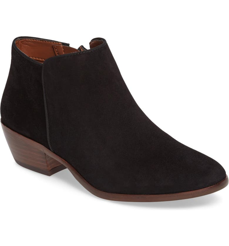 SAM EDELMAN 'Petty' Chelsea Boot, Main, color, BLACK SUEDE