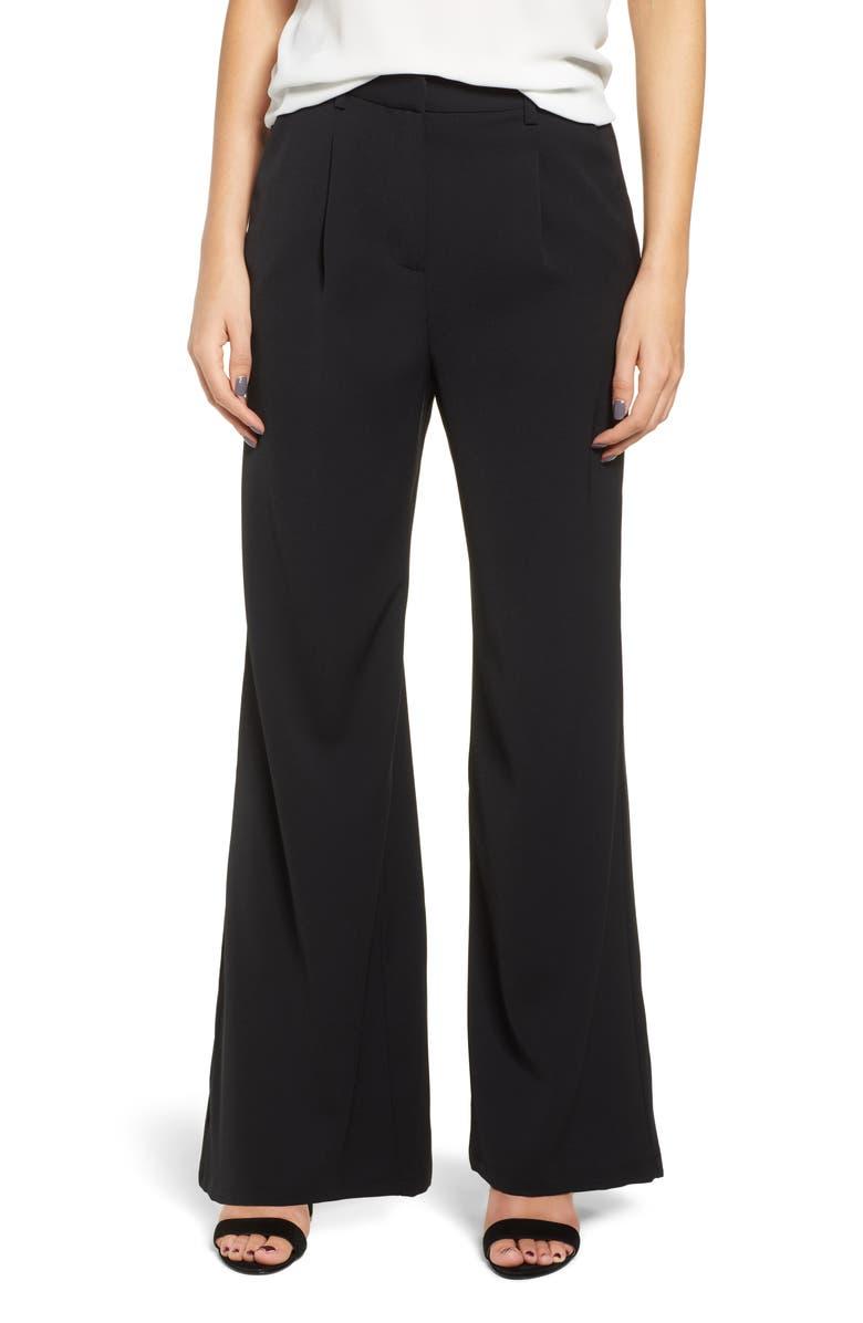LEITH High Waist Flare Pants, Main, color, 001