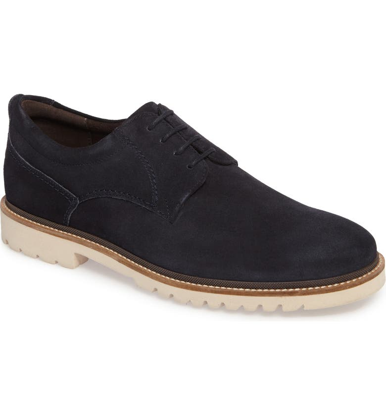 ROCKPORT Marshall Buck Shoe, Main, color, NEW DRESS BLUE SUEDE