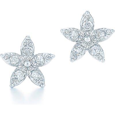 Kwiat Sunburst Flower Diamond Stud Earrings