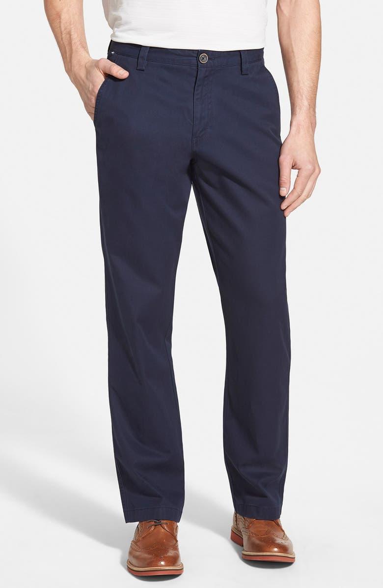 CUTTER & BUCK 'Beckett' Straight Leg Washed Cotton Pants, Main, color, LIBERTY NAVY