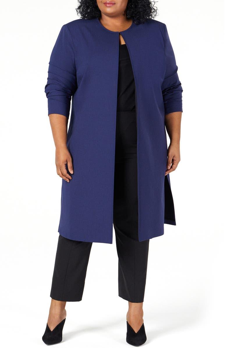 PARI PASSU Wool Blend Coat, Main, color, NAVY