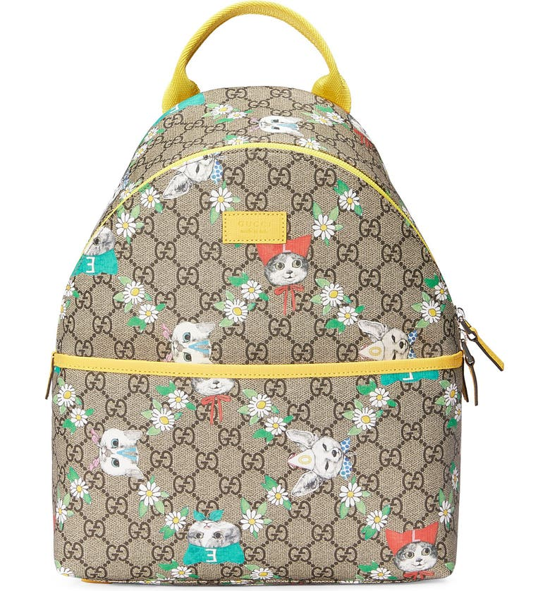 a6b38c031 Gucci GG Supreme Canvas Backpack (Kids) | Nordstrom