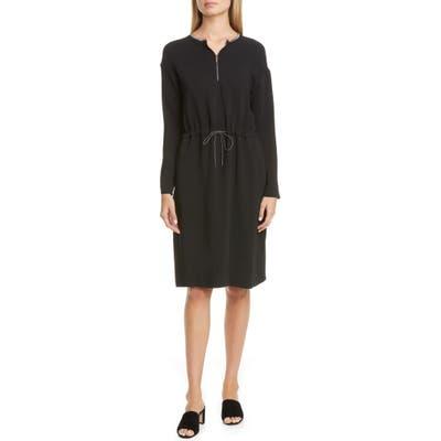 Fabiana Filippi Cinched Waist Long Sleeve Dress, 50 IT - Black