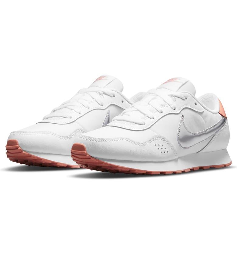 NIKE MD Valiant Sneaker, Main, color, WHITE/ SILVER/ CRIMSON