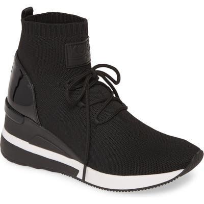Michael Michael Kors Skyler Sock Bootie- Black