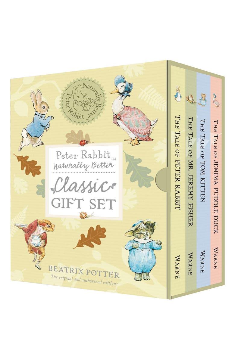 PENGUIN RANDOM HOUSE 'Peter Rabbit: Naturally Better' Classic Book Gift Set, Main, color, 700