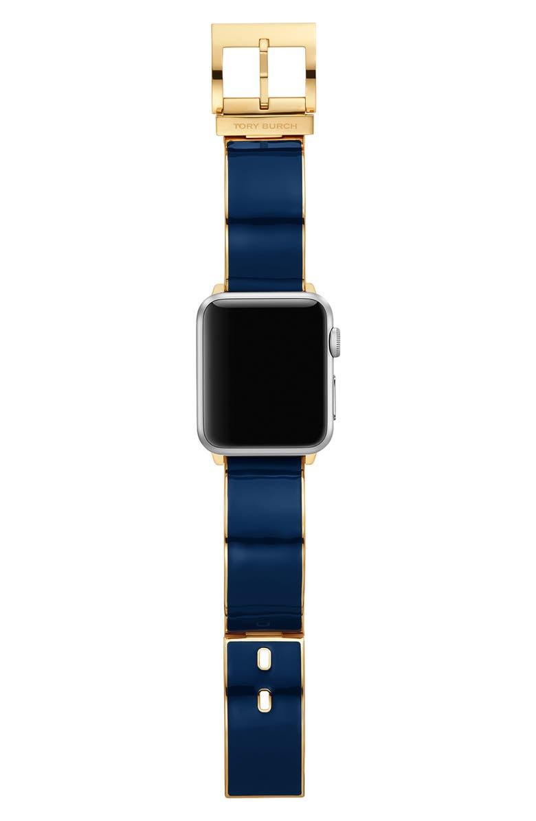 토리버치 Tory Burch The Buddy Bangle Band for Apple Watch 38mmu002F40mm,navy