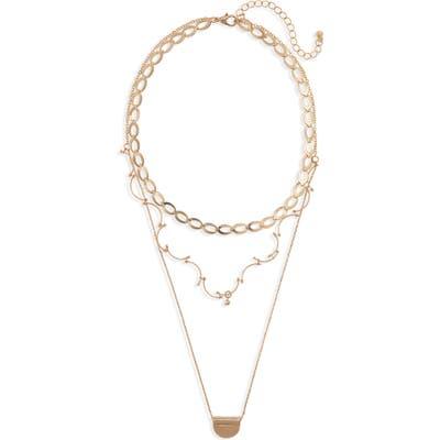 Bp. Set Of 2 Medallion Necklaces