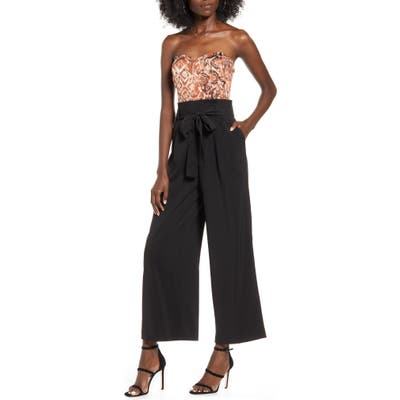 J.o.a. Strapless Jumpsuit, Brown