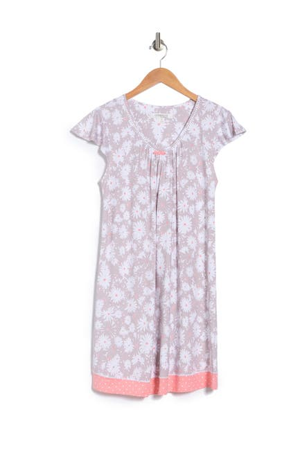 Image of Ellen Tracy V-Neck Cap Sleeve Nightgown