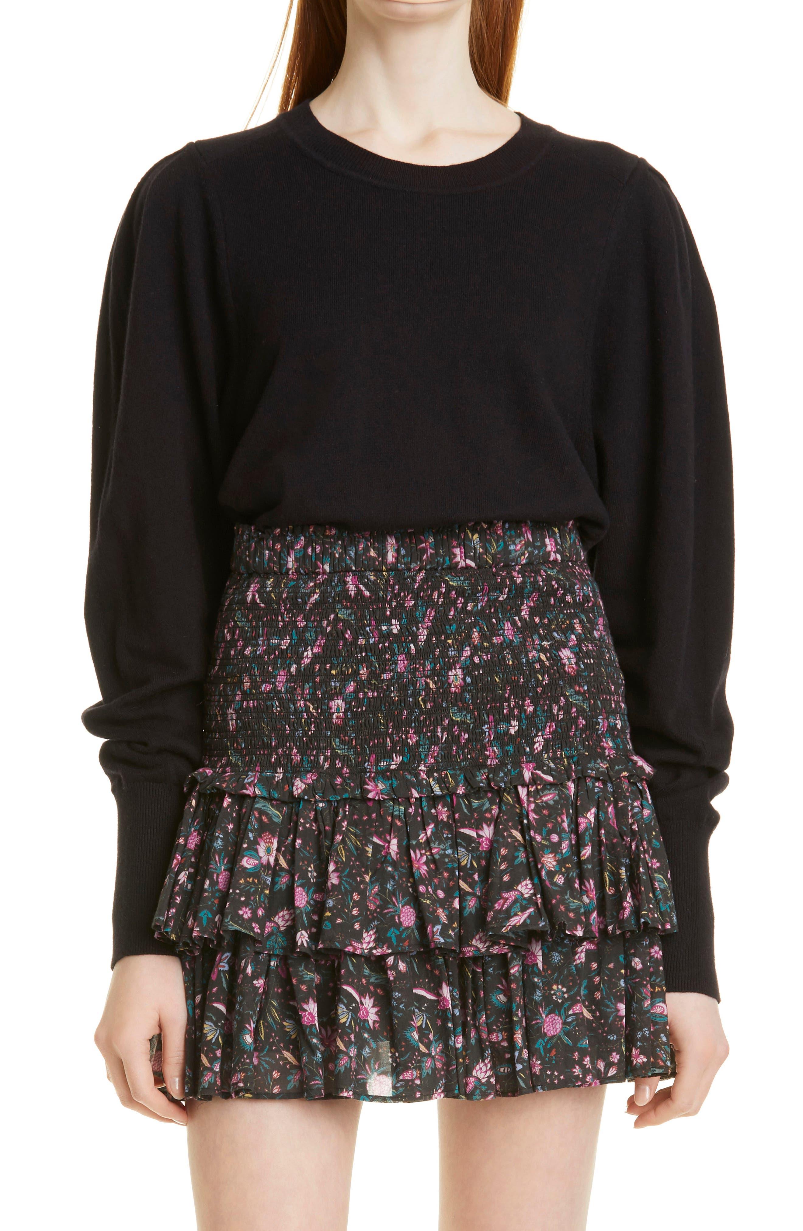 Women's Isabel Marant Etoile Camelia Cotton & Wool Crewneck Sweater