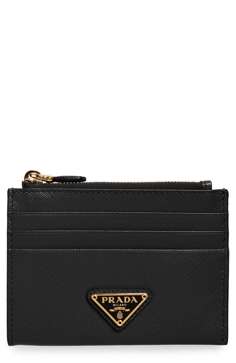reputable site 59d58 09d65 Prada Logo Saffiano Leather Card Case | Nordstrom