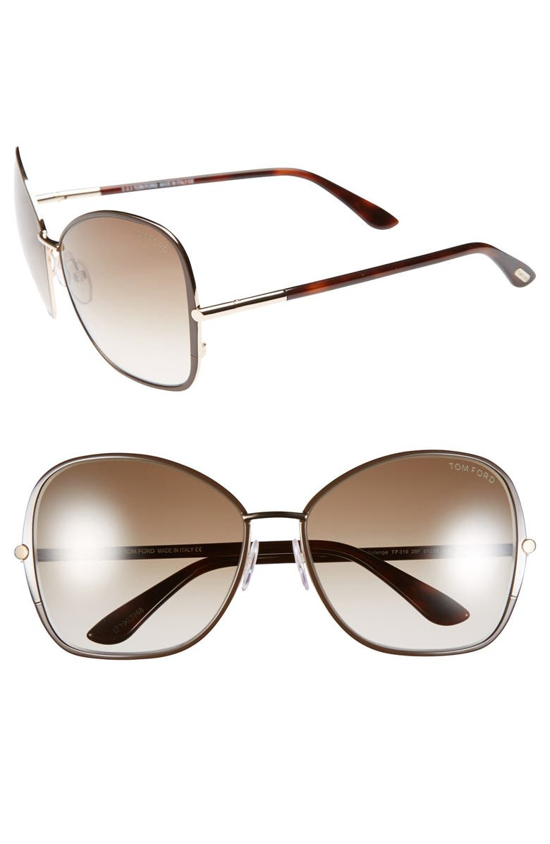 TOM FORD 'Solange' 61mm Sunglasses, Main, color, 200