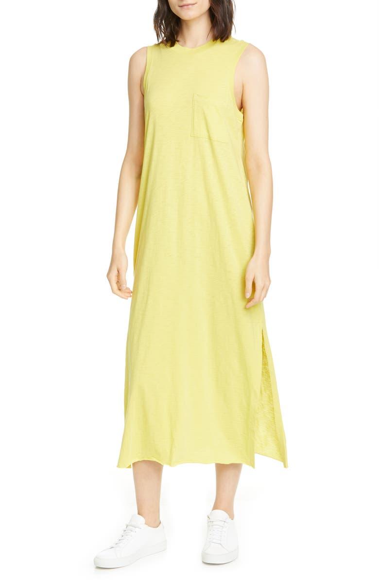ATM ANTHONY THOMAS MELILLO Pocket Midi T-Shirt Dress, Main, color, CANARY