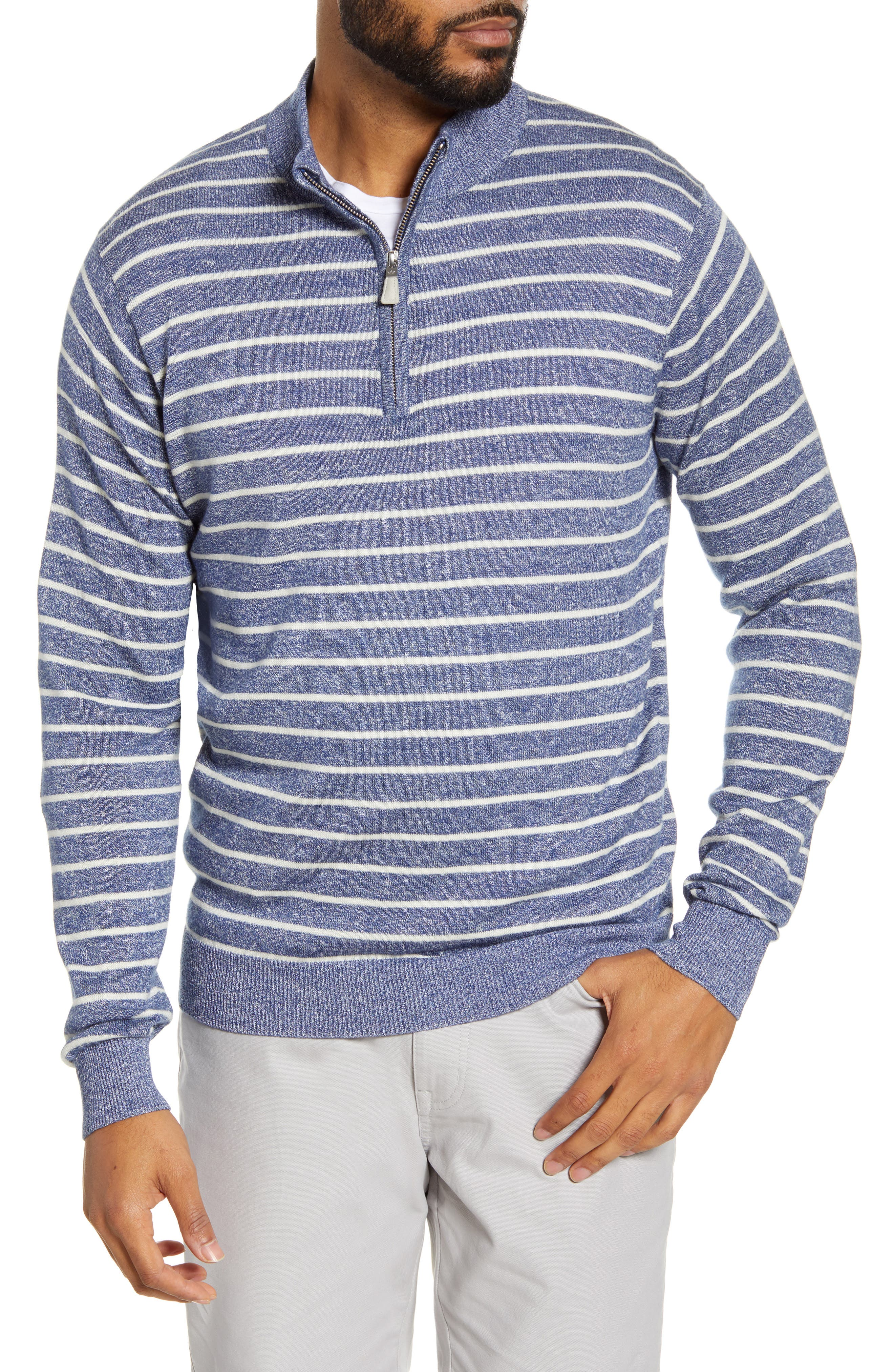 Image of Peter Millar Wells Striped Quarter Zip