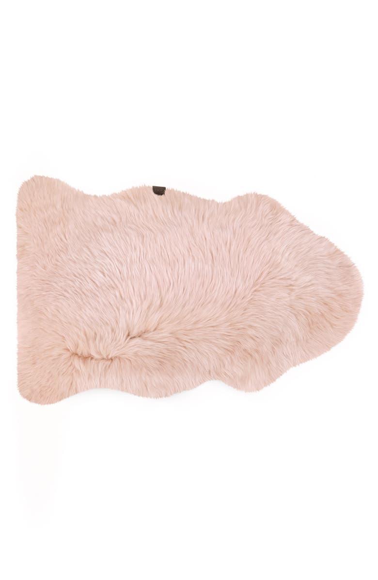 UGG<SUP>®</SUP> Genuine Shearling Rug, Main, color, BLUSH