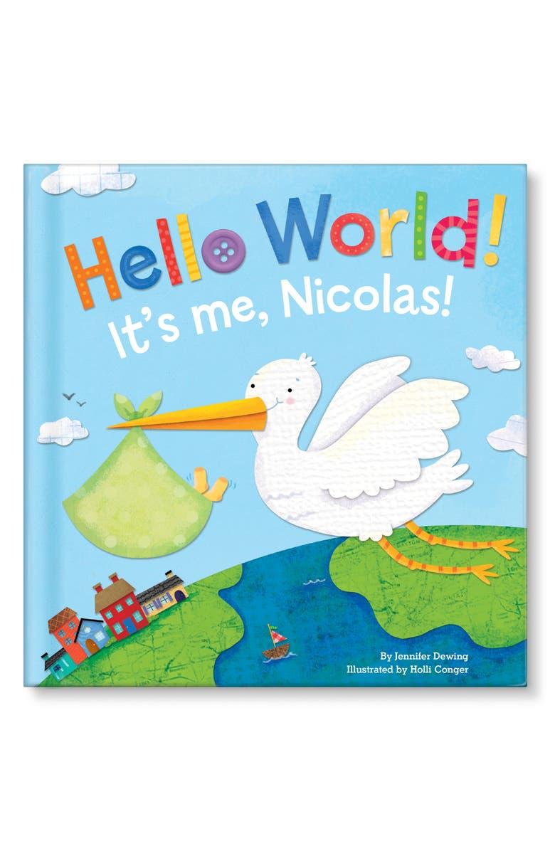 I SEE ME! 'Hello World!' Personalized Board Book, Main, color, BLUE