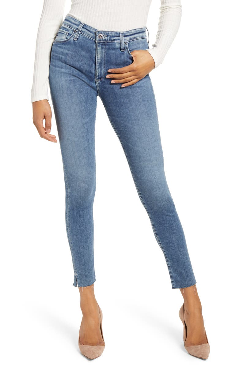 AG The Farrah High Waist Ankle Skinny Jeans, Main, color, 432