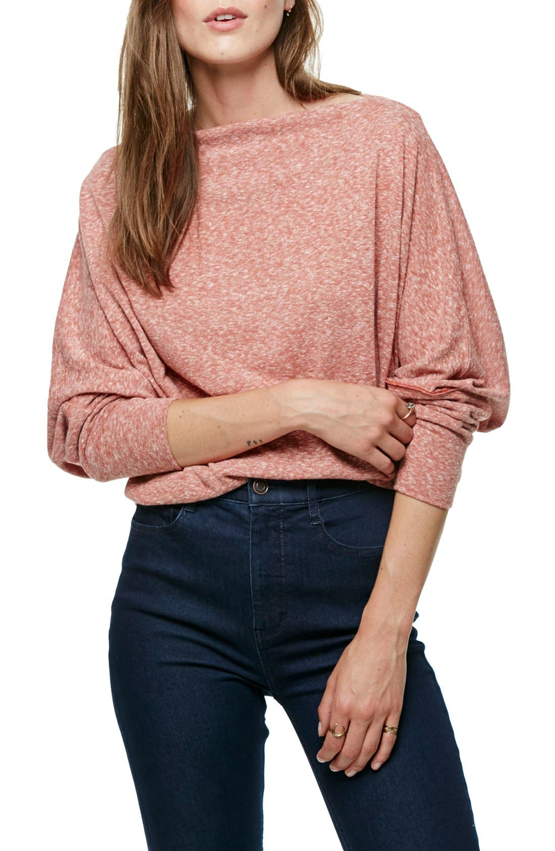 ,                             Valencia Off the Shoulder Pullover,                             Main thumbnail 47, color,                             600