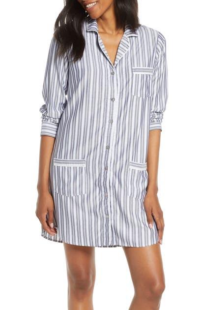 Ugg T-shirts UGG STRIPE FLANNEL SLEEP SHIRT