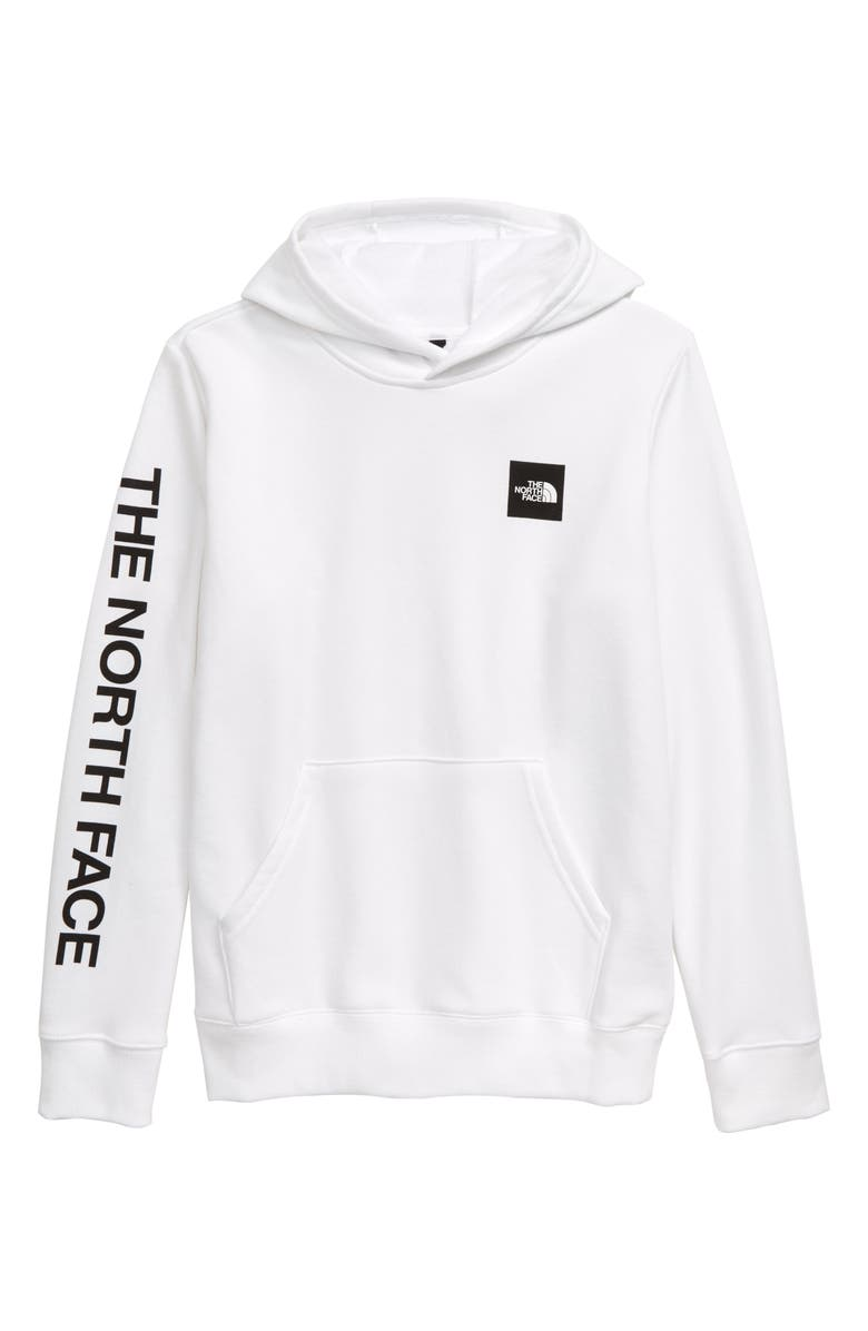 THE NORTH FACE Logowear Hooded Pullover, Main, color, TNF WHITE