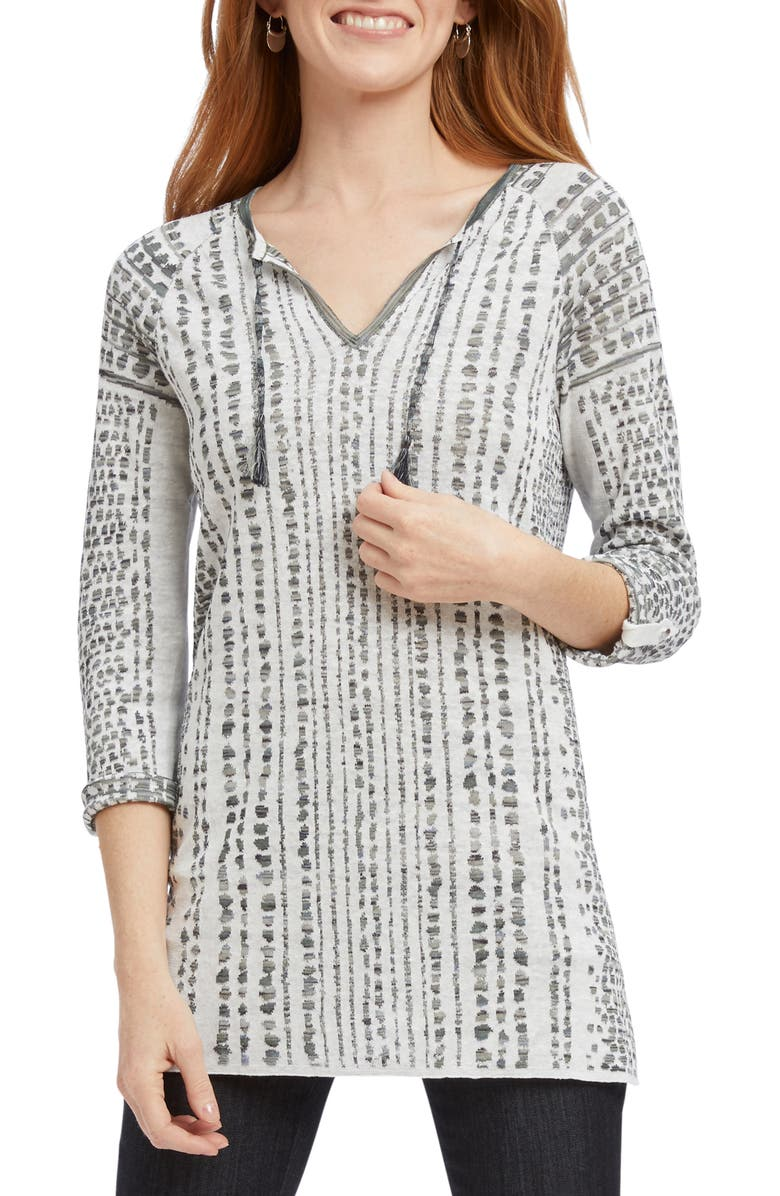NIC+ZOE Natural Instinct Jacquard Sweater, Main, color, MULTI