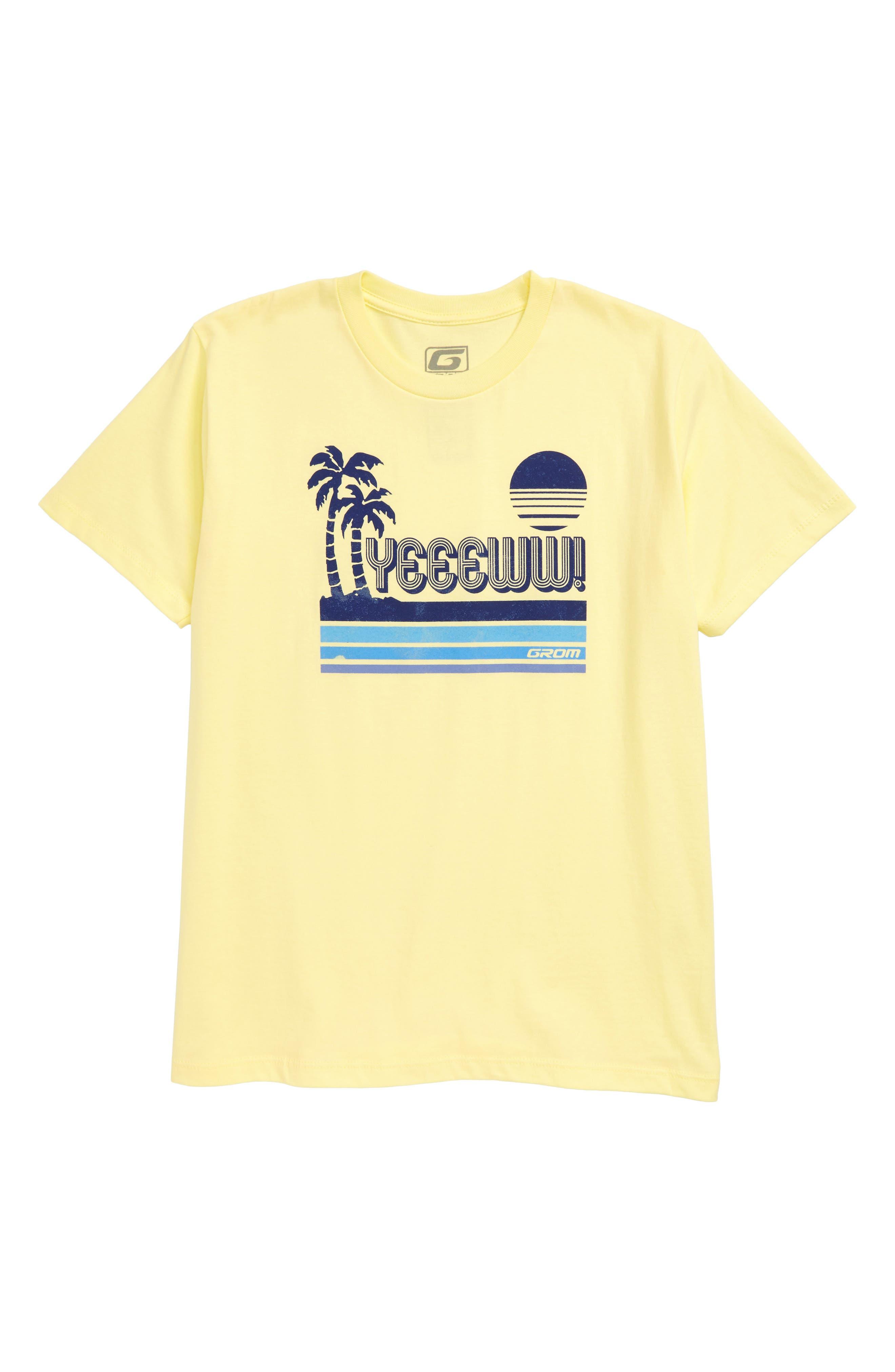 Boys Grom Yeeeww TShirt Size S (67)  Yellow