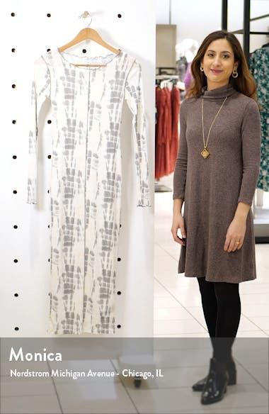 Long Sleeve Batik Mesh Midi Dress, sales video thumbnail