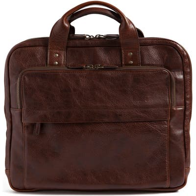 Moore & Giles Jay Leather Briefcase - Brown