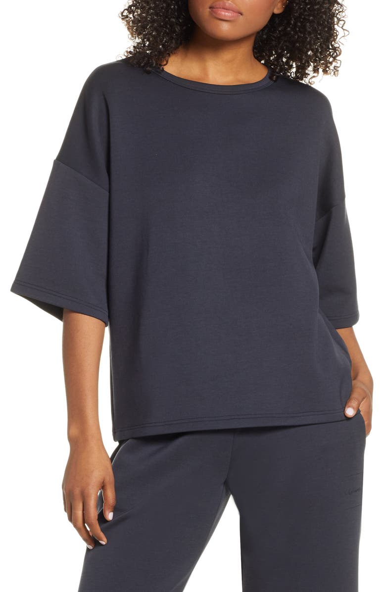 CHALMERS Soph Elbow Sleeve Sweatshirt, Main, color, STONE GREY SCUBA